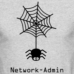 network admin administrator spider net www world wide web pc computer laptop Long Sleeve Shirts - Men's Long Sleeve T-Shirt by Next Level