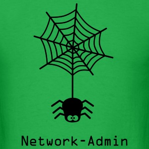 network admin administrator spider net www world wide web pc computer laptop T-Shirts - Men's T-Shirt