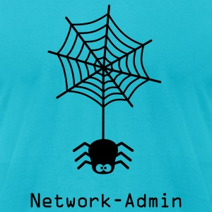 network admin administrator spider net www world wide web pc computer laptop T-Shirts - Men's T-Shirt by American Apparel