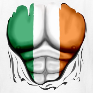Ireland Flag Ripped Muscles, six pack, chest t-shirt - Kids' T-Shirt
