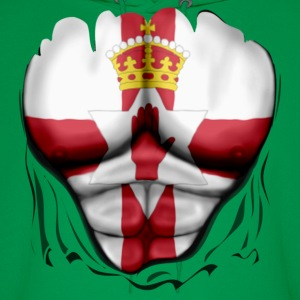 Northern Ireland Flag Ripped Muscles, six pack, chest t-shirt - Men's Hoodie