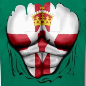 Northern Ireland Flag Ripped Muscles, six pack, chest t-shirt - Men's T-Shirt by American Apparel