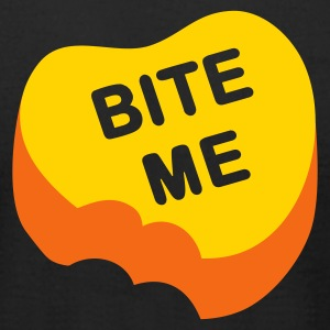 Black Bite Me Candy Heart T-Shirts - Men's T-Shirt by American Apparel