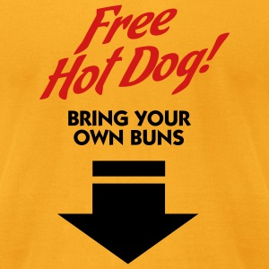 Free Hot Dog (2c) T-shirts (manches courtes) - T-shirt pour hommes American Apparel