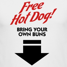 Free Hot Dog (2c) Long Sleeve Shirts