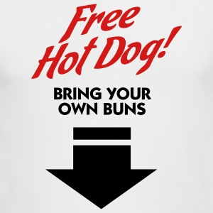 Free Hot Dog (2c) Long Sleeve Shirts - Men's Long Sleeve T-Shirt by Next Level