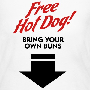 Free Hot Dog (2c) Long Sleeve Shirts - Women's Long Sleeve Jersey T-Shirt