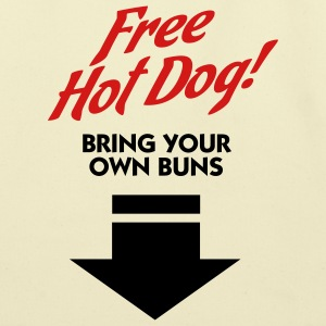 Free Hot Dog (2c) Bags  - Eco-Friendly Cotton Tote