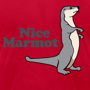 Nice Marmot T-Shirts - Men's T-Shirt by American Apparel