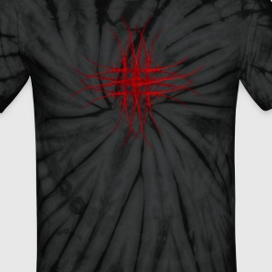 The Red Fractal Geometry Art T-Shirts - Unisex Tie Dye T-Shirt