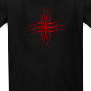 The Red Fractal Geometry Art Kids' Shirts - Kids' T-Shirt