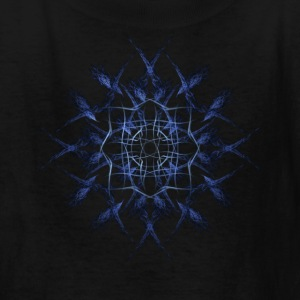 Barbed Blue Fractal Geometry Art Kids' Shirts - Kids' T-Shirt