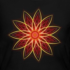 Fractal Flower Red Geometric Art Long Sleeve Shi - Women's Long Sleeve Jersey T-Shirt