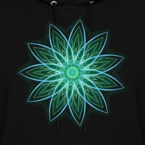Fractal Flower Green Geometric Art Hoodies - Women's Hoodie