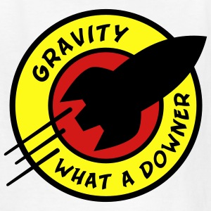 Gravity, What A Downer! Kids' Shirts - Kids' T-Shirt