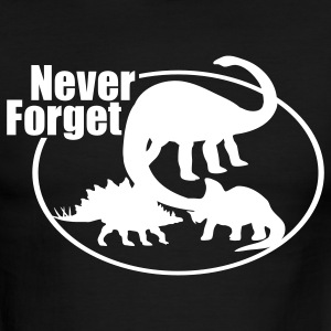 Never Forget Dinosaur T-Shirts - Men's Ringer T-Shirt