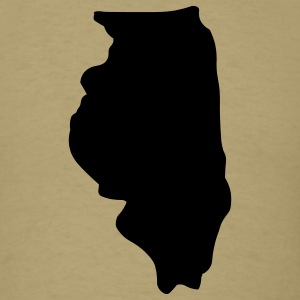 State of Illinois T-Shirts - Men's T-Shirt