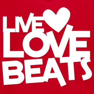 live love beats heart Zip Hoodies/Jackets - Unisex Fleece Zip Hoodie by American Apparel