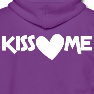 kiss me with a love heart Zip Hoodies/Jackets - Unisex Fleece Zip Hoodie by American Apparel