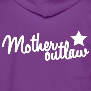 mother outlaw with a staw Zip Hoodies/Jackets - Unisex Fleece Zip Hoodie by American Apparel