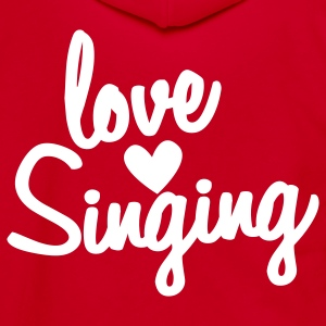 love singing Zip Hoodies/Jackets - Unisex Fleece Zip Hoodie by American Apparel