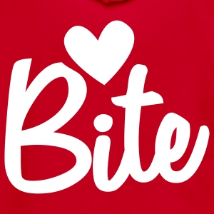 LOVE BITE Zip Hoodies/Jackets - Unisex Fleece Zip Hoodie by American Apparel