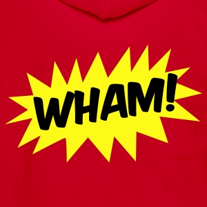 wham! with starburst comic hero Zip Hoodies/Jackets - Unisex Fleece Zip Hoodie by American Apparel