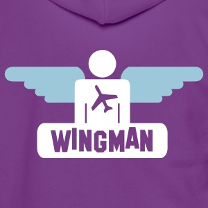 wingman Zip Hoodies/Jackets - Unisex Fleece Zip Hoodie by American Apparel