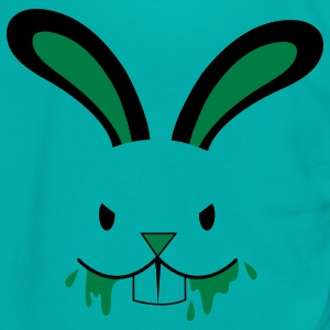 rabid easter bunny rabbit face foaming at the mouth Zip Hoodies/Jackets - Unisex Fleece Zip Hoodie by American Apparel