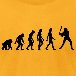 Evolution Baseball (1c) T-Shirts - Men's T-Shirt by American Apparel