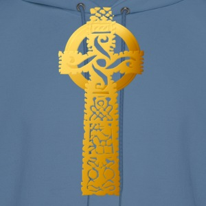 Golden Celtic Cross - Men's Hoodie