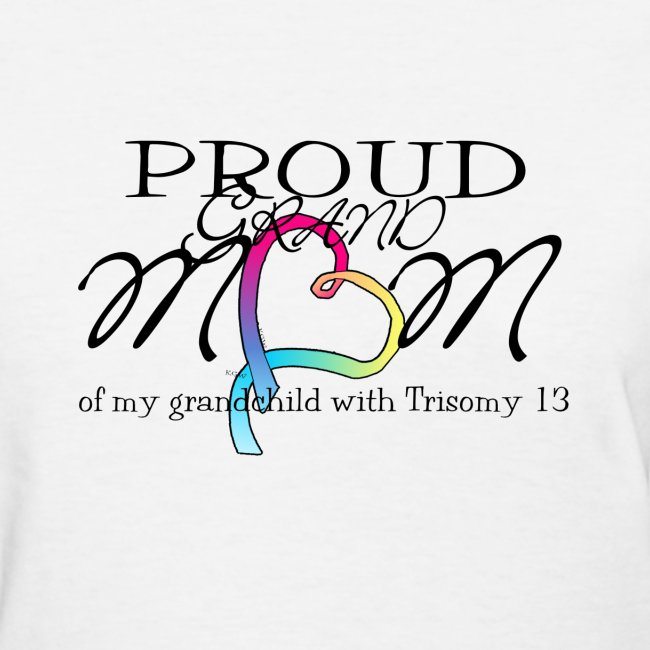 Proud T13 Grandmom with pink ribbon names on back