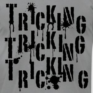 Tricking Graffiti - Men's T-Shirt by American Apparel
