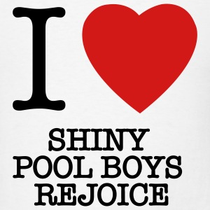 Shiny pool boys Charlie Sheen t-shirts - Men's T-Shirt
