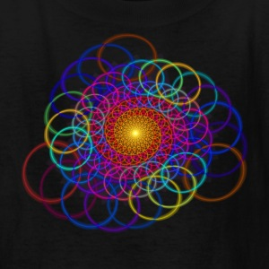 Borromean Ring Spiral Chain Geometric Art Kids'  - Kids' T-Shirt