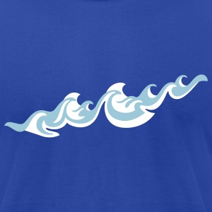 'Waves' Men's AA Tee - Men's T-Shirt by American Apparel
