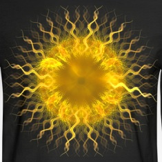 """Sol, Fractal Sun Iris"" Geometric Art Long Sleeve"