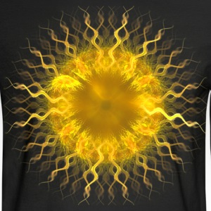 """Sol, Fractal Sun Iris"" Geometric Art Long Sleeve  - Men's Long Sleeve T-Shirt"