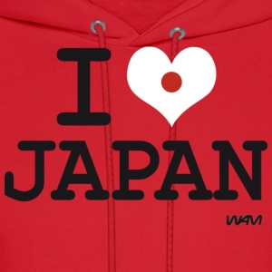 I love JAPAN - flag Hoodies - Men's Hoodie