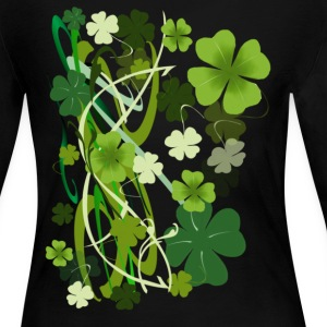 Designer Shamrocks - Women's Long Sleeve Jersey T-Shirt