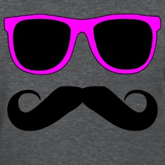 Mustache Glasses Humor Women's T-Shirts