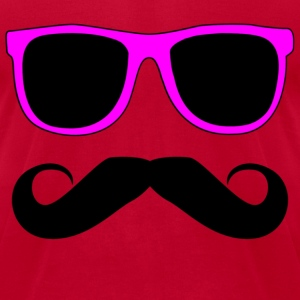 Mustache Glasses Humor T-Shirts - Men's T-Shirt by American Apparel