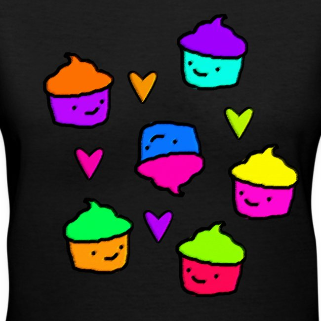 Colorful Cupcakes & Hearts