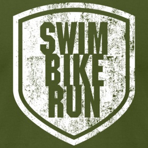 Swim/Bike/Run - Men's T-Shirt by American Apparel