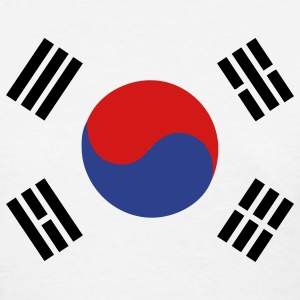 Flag of South Korea Women's T-Shirts - Women's T-Shirt