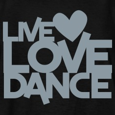 live love dance Kids' Shirts
