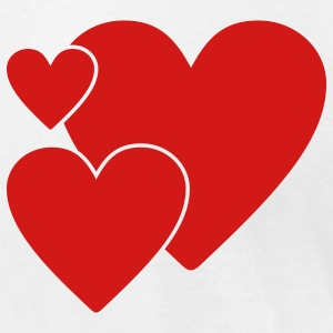 Three hearts - Men's T-Shirt by American Apparel