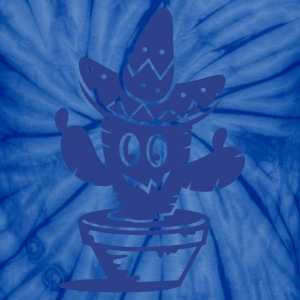 A cactus with a sombrero hat  T-Shirts - Unisex Tie Dye T-Shirt