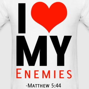 I Heart Enemies (B) - Men's T-Shirt