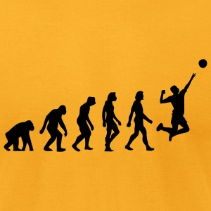 Evolution Volleyball (1c) T-Shirts - Men's T-Shirt by American Apparel